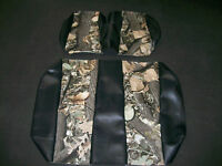 Yamaha Drive Hunting Golf Cart Deluxe™ Front Seat Covers-staple On(black W/camo)