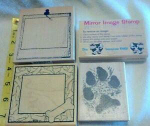 Mirror Frame Rubber Stamp wood mounted