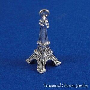 Silver-EIFFEL-TOWER-Paris-France-Travel-CHARM-PENDANT