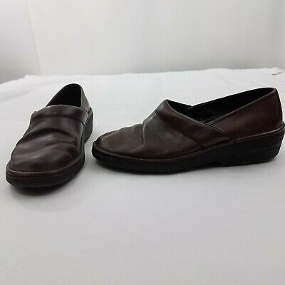 Josef Seibel Size 41 9.5 Womens Leather Brown Clogs Casual Shoes Loafers Comfort | eBay