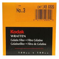 Kodak Wratten Gelatin Filter. 100 x 100 mm. No.3 cat 149 6926