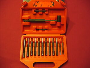 WINCHESTER-GUNSMITH-PROFESSIONAL-GRADE-BRASS-STEEL-PUNCH-SET-WITH-HAMMER