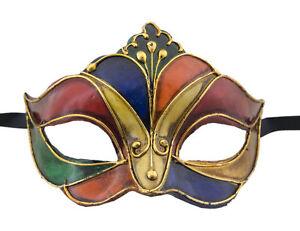 Maschera Di Venezia Per Punta Arlecchino Autentica Carta Cartapesta 17 -V52