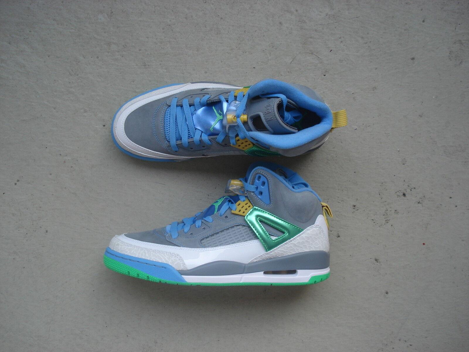 Nike Air Jordan Spiz'ike 45 Stealth/Poison Vert-University Bleu-Blitz Bleu