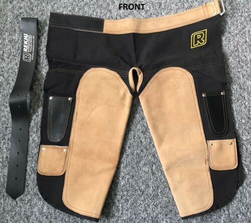 Branded Rekhi Farrier Apron Genuine Suede Leather and Canvas Chaps