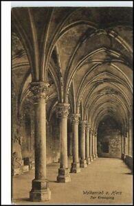 Walkenried-Niedersachsen-Postkarte-1915-Ansicht-Kreuzgang-Kirche-AK-ungelaufen