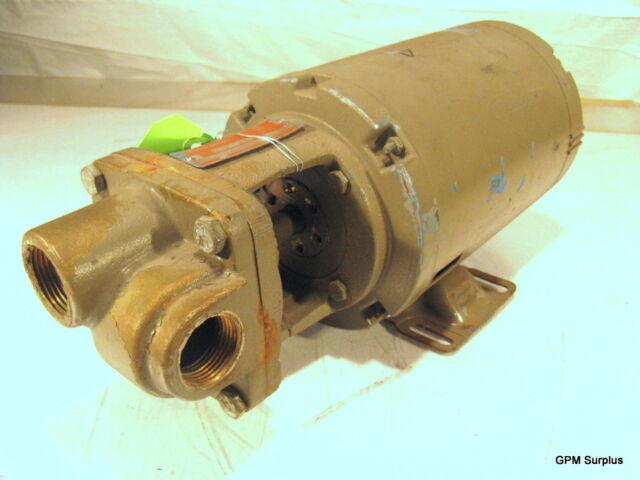 Burks Boiler Feed Turbine Pump 8 GPM 3/4 HP # 37CT7M