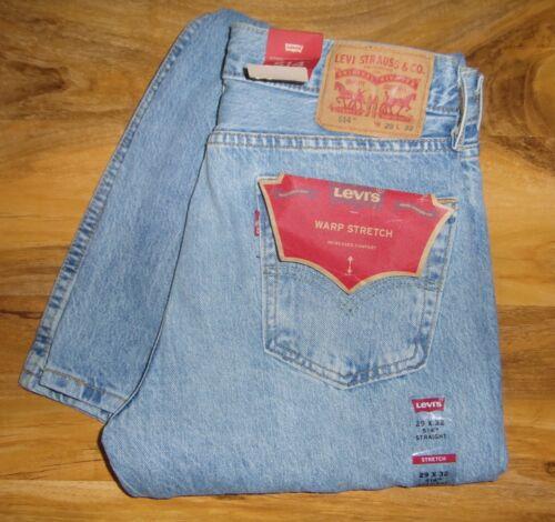 New Stretch Denim Wash Blue Jeans 514 00515 Light Warp 0988 29x32 Levi's wtqrzt