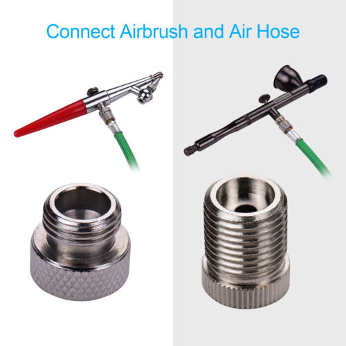 9Pcs Airbrush Adaptor Kit Fitting Connector Set for Compressor Airbrush Air Hose