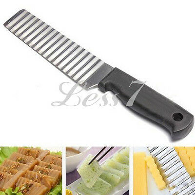 Hot Sale Stainless Blade Vegetable Dough Potato Chip Crinkle Wavy Cutter Slicer