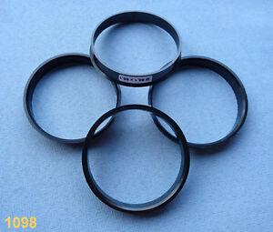 (1098) 4x  Zentrierringe 68,1 / 65,1 mm schwarz für Alufelgen