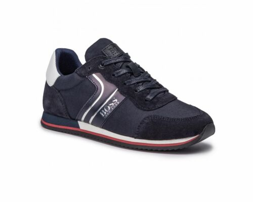 Hugo Boss Junior J29184 849 Boys Trainers Navy Shoes
