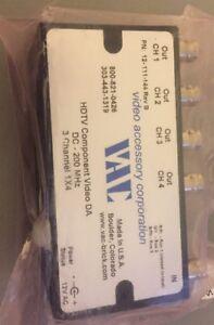 VAC-12-111-114-Rev-B-3-Channel-1x4-HDTV-Component-Video-DA-DC-200-MHz-T11