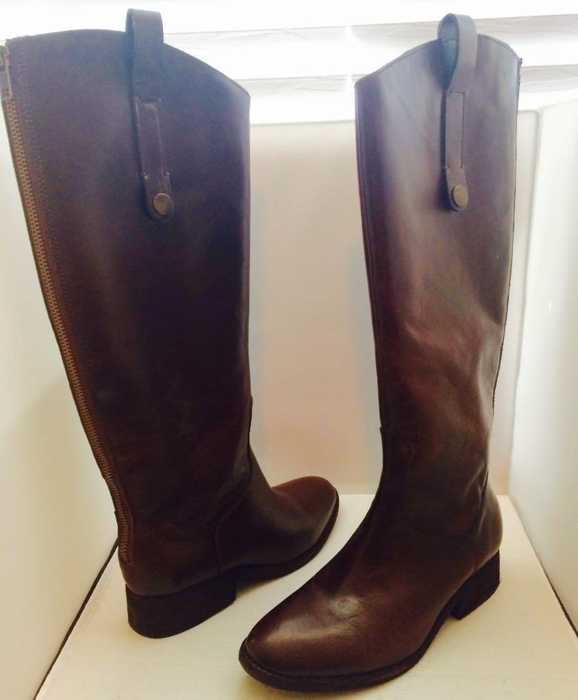 STEVEN Steve Madden Satyre Brown Leather Riding Boots Women's NEW - 7M