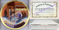 """CITY ON EDGE OF FOREVER"" Star Trek PLATE The Original Series ERNST 1986 MINT!"