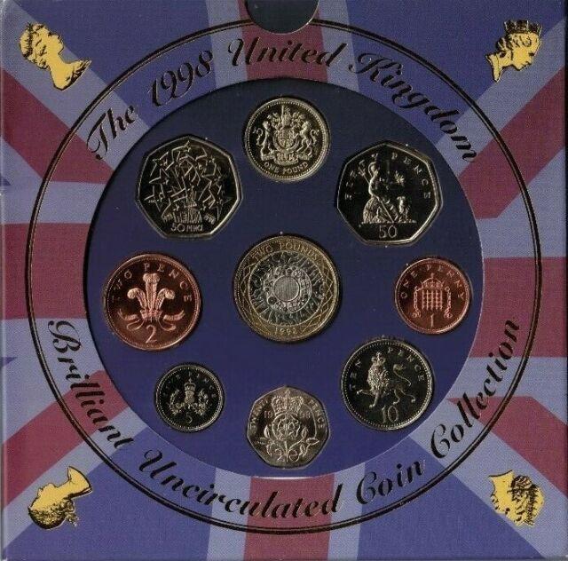 1998 United Kingdom Brilliant UNC Coin Collection