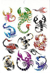 Escorpion Tatuaje temporal cuerpo tattoo jewelry solo uso tatoo tatuaje arte corporal