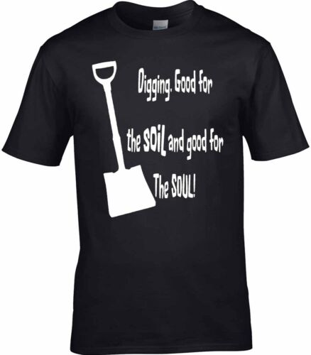 Allotment T-Shirt Gardening T-Shirt Good for the Soul Fathers Day Gift Present