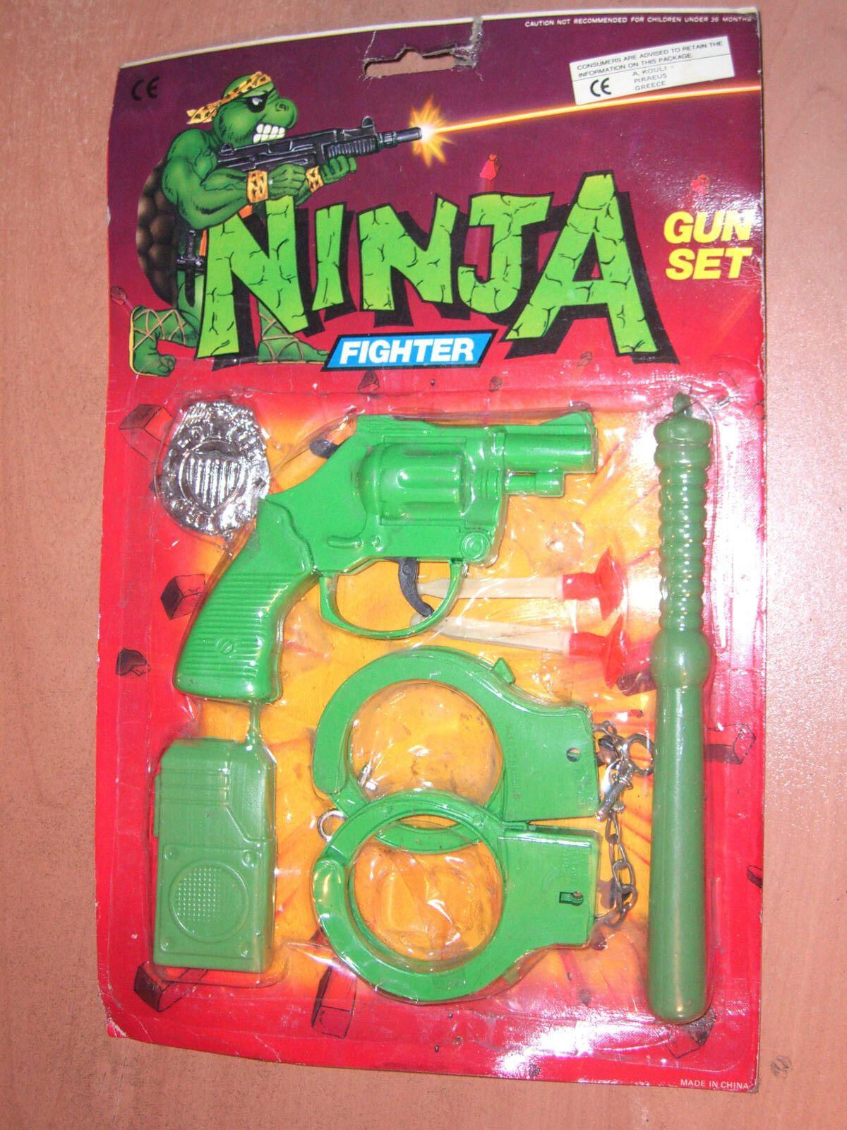 90 's vintage tmnt - ninja - kämpfer gewehr plastikspielzeug moc