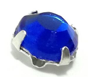 100% De Qualité 144 Rosette Strass Incastonate Da Cucire 8 Facce Ss30/6.60mm Sapphire