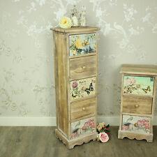 Floreale 5 CASSETTI ARMADIETTO cassettiera shabby chic vintage arredamento camera da letto