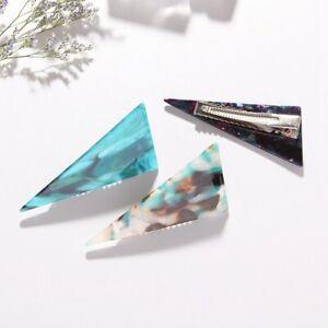 Women-Fashion-Marble-Texture-Hairpin-Triangle-Hair-pin-Jewelry-Acrylic-Geometry