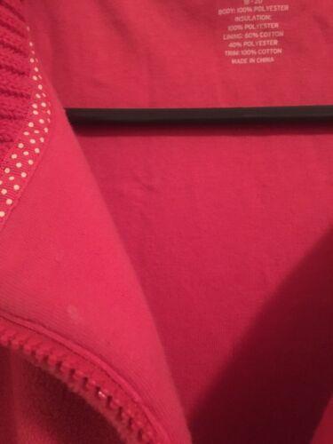 End 20 Tøj Lands 884968031647 Fleece Women's 18 Xl Sz Vest Jakke Pink Lined 688dPHx