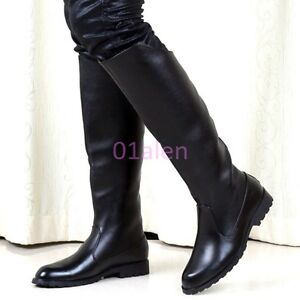 ae28acebc HOT Men's Back Zipper Knee High Riding Boots Combat Military Long ...