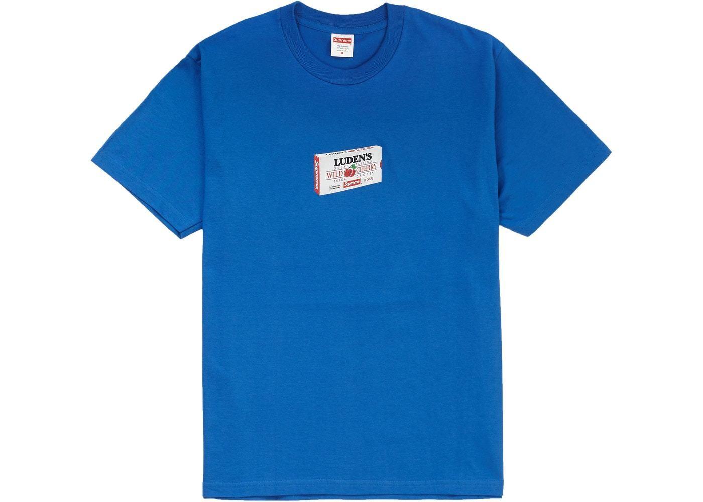 SUPREME X LUDEN'S T-SHIRT ROYAL Blau Größe MEDIUM TEE T-SHIRT LUDENS