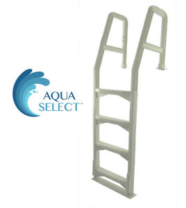 Details about Aqua Select Heavy Duty Resin In-Pool Above Ground Swimming  Pool Ladder