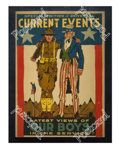 Historic-WWI-Recrutiment-Poster-our-boys-in-the-service-Uncle-Sam-Postcard