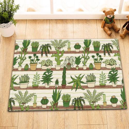 """72X72/"""" Home Plants Succulent Cactus Shower Curtain Bath Bathroom Decoration"""