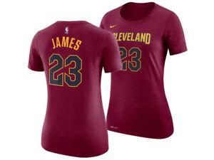 NWT NIKE LEBRON JAMES Cleveland Cavaliers  23 Womens DriFit T-Shirt ... 40d3ae88e