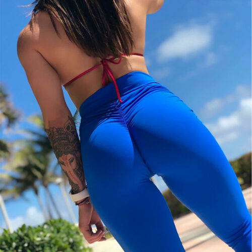 Sport High Leggings Yoga Fitness Athletic Running Women Ruched Gym Waist G Pants qUHXwxp