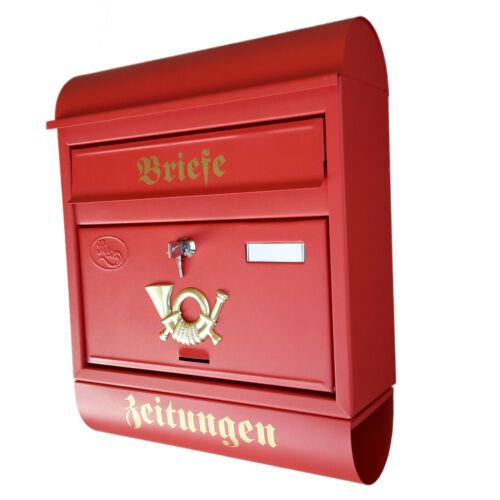 XXL Boîte Aux Lettres Boîte Aux Lettres Rouge Mat JOURNAL rôle Montage Mural Nostalgie Métal