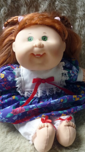 VINTAGE CABBAGE PATCH KID DOLL MATTEL FIRST EDITION 1995 COPPER PINK SILKY HAIR