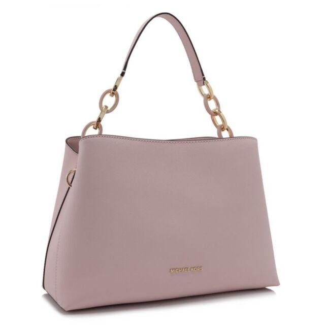Michael Kors Portia EW Large Blossom Saffiano Leather Satchel Bag 30T6GPAL3L