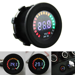 Mini-Car-Digital-LED-Volt-Gauge-Meter-Voltage-LED-Panel-Voltmeter-Display-DC-24V