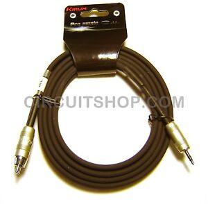 Kirlin 6 Splitter Cable 24 Awg 3 5mm Trs Plug 2 X