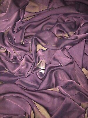 "147cm 1 mtr brown cationic sheer bridal,dress chiffon fabric..58"" wide"
