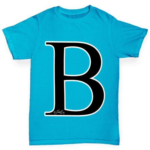 Twisted ENVY Girl/'s Alfabeto Monograma Letra B T-Shirt