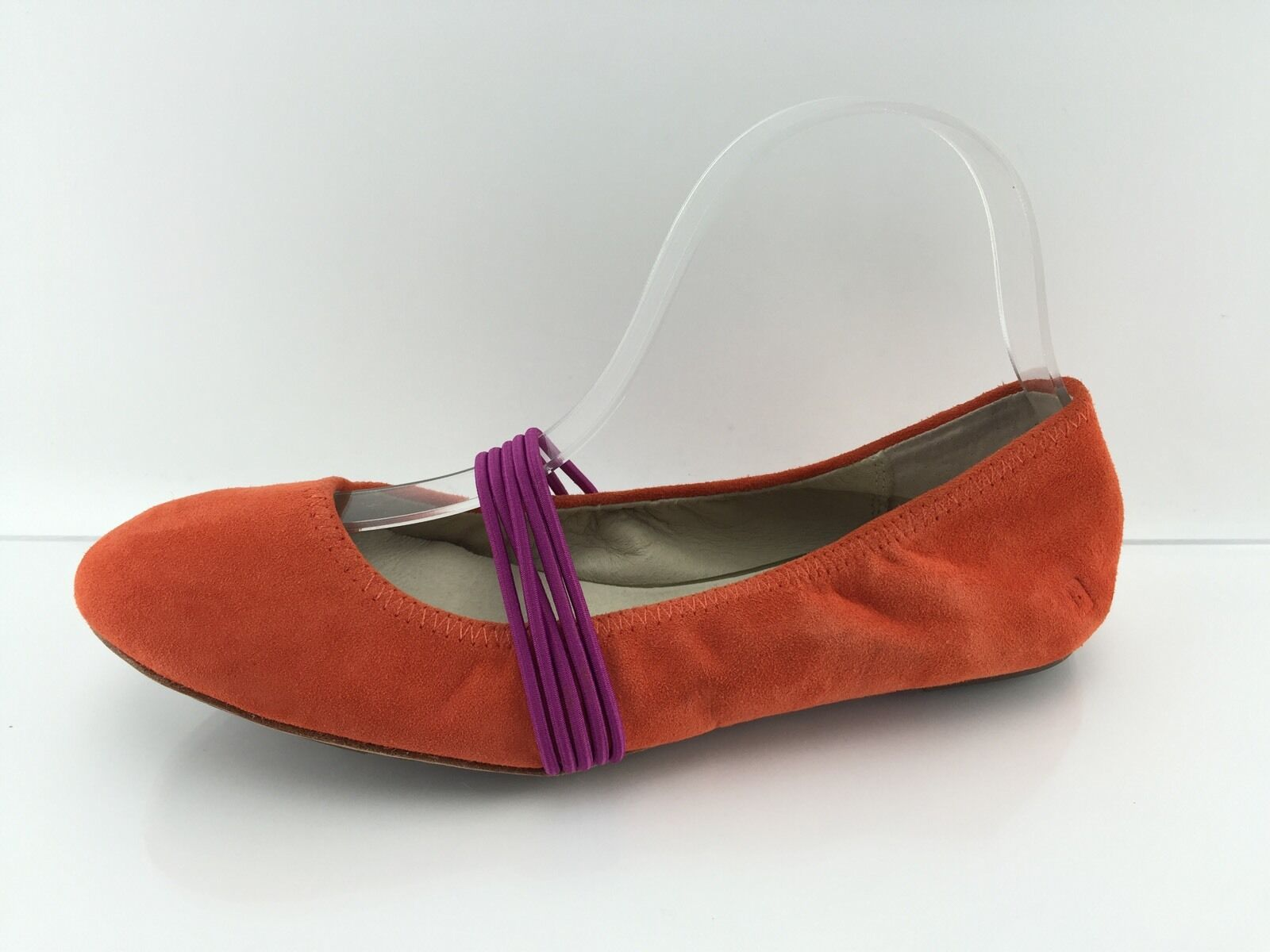 Gentleman/Lady Tsubo Women's Orange Leather Flats 8 Strong heat and wear resistance delicate Breathable shoes