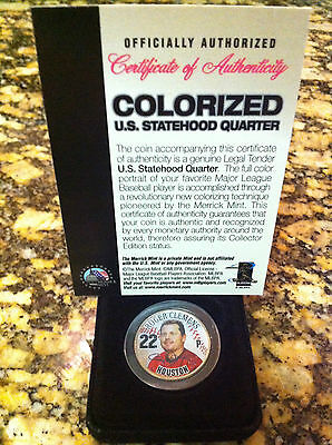 ROGER CLEMENS HOUSTON ASTROS TEXAS U.S. STATEHOOD QUARTER! SIGNATURED! LIMITED!!