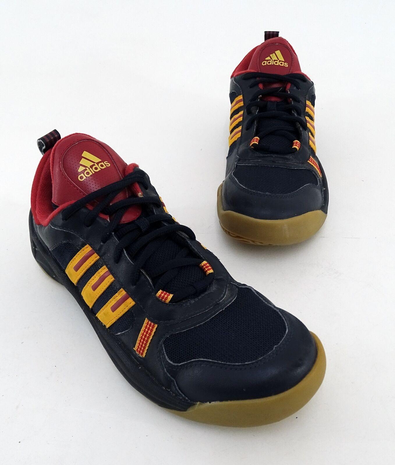 Sneaker Adidas Schnürer Indoor Kunstleder Textil black Gr. 5,5 = 38 2 3