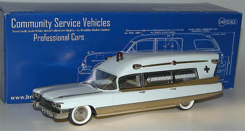 Brooklin models csv.16 1960 MILLER-METEOR ILLAC Guardian Ambulance 1 43