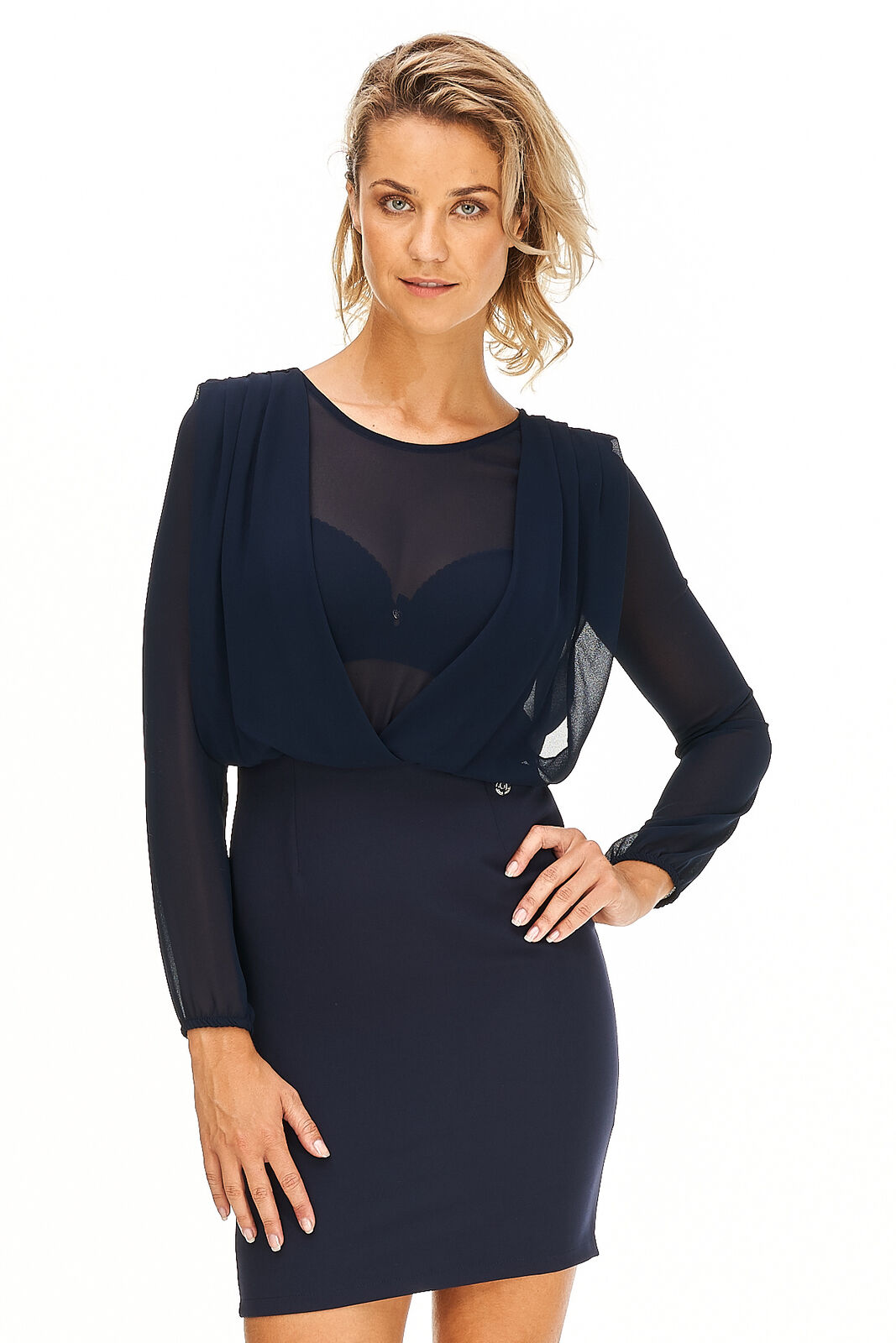 Gaudi - Kleid Damen blau Blause Oberteil elegant Premium Neu