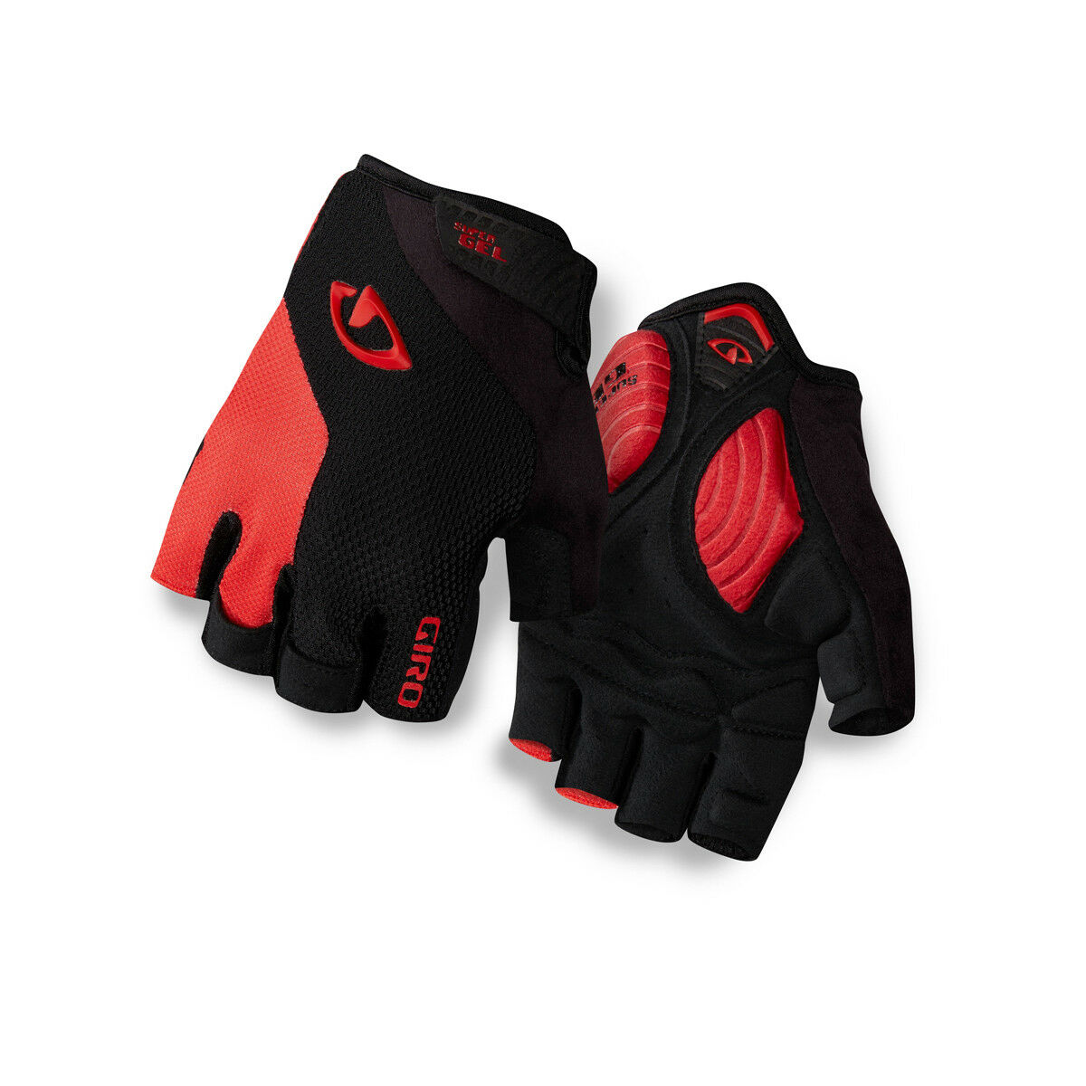 Giro Strade Dure Supergel Fahrrad Handschuhe kurz black red 2019