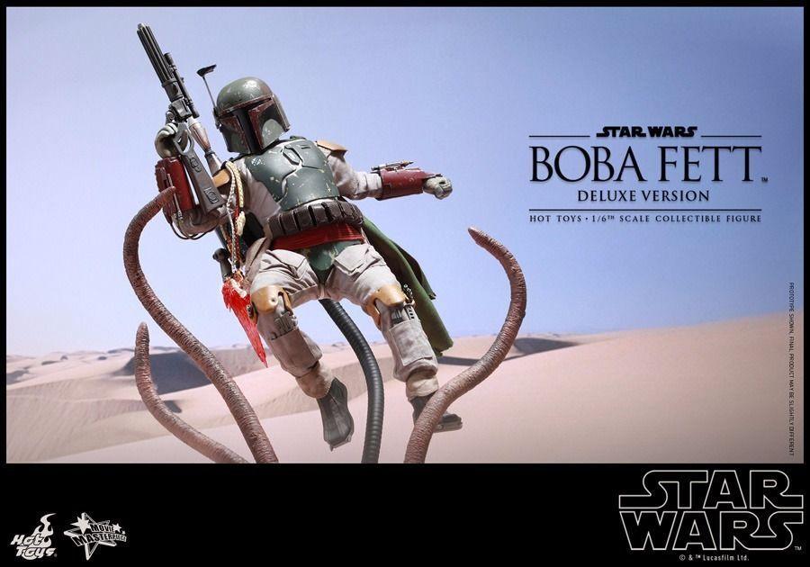 Film Capolavoro Star Wars Ep 6 Boba Fett con Bonus 1 6 Action Figure Hot Toys