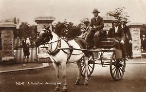 A-PORTADOWN-JAUNTING-CAR-ARMAGH-IRELAND-RP-POSTCARD-by-DAVID-JEFFERS-PORTADOWN