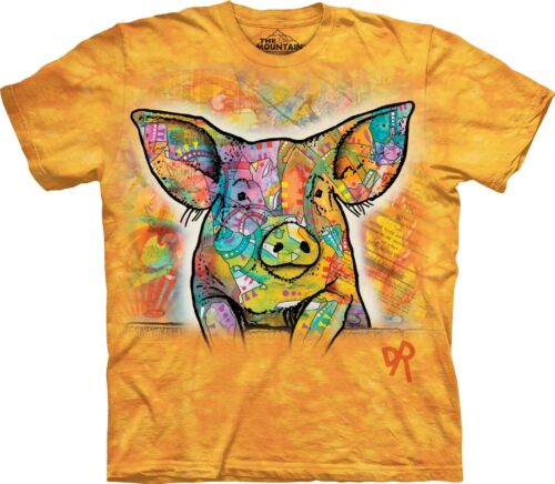 """5xl The Mountain adultes Batik T-shirt /""""Russo PIG/"""" Taille S"""
